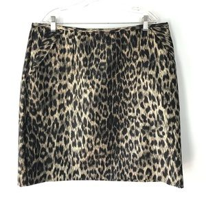 Rebecca Moses Animal Print Skirt Leopard Size 16